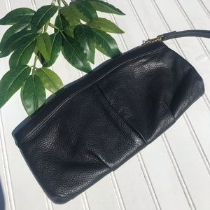 Hobo Leather Wristlet Or Clutch